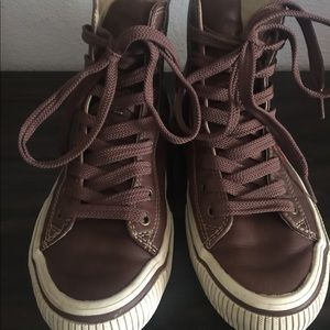REPLAY! Leather high tops women's size 7